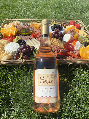 2020 Helix Sangiovese Rosé with cheese & charcuterie