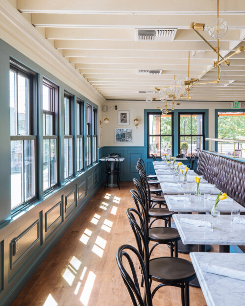 Bistro shirlee restaurant interior